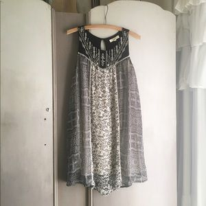 black & white Rewind tunic dress